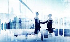 Businessmen Handshake Agreement Support Unity Welcome Concept