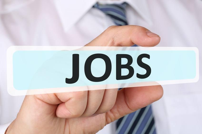 Business man Konzept mit Jobs Job Arbeit Jobsuche