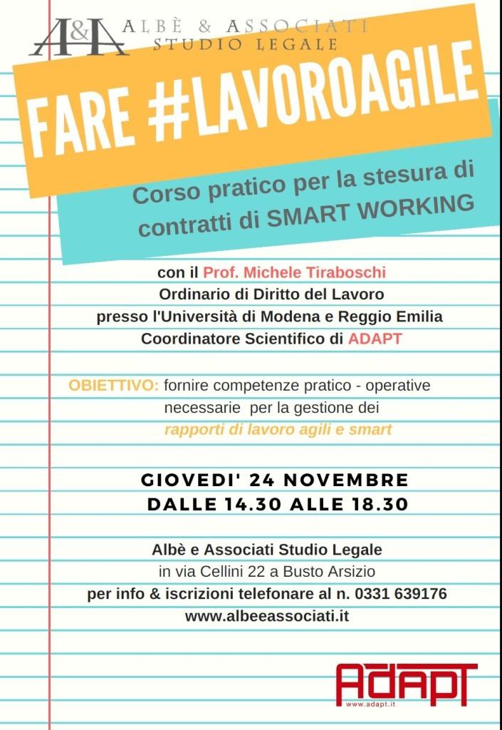 Incontro sulla disciplina dei contratti di smart working